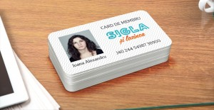 Design card de membru/legitimație